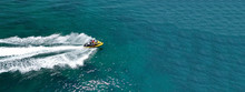 Aerial Photo Of Jet Ski With C...