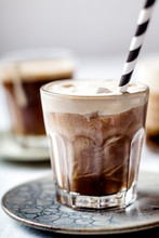 Iced Espresso With Cold Frothe...