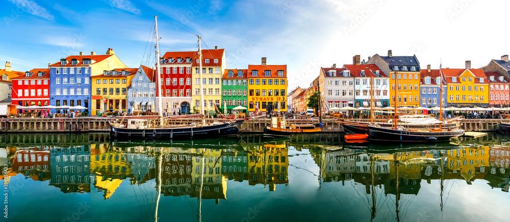Fototapeta Nyhavn, Kopenhagen, Dänemark