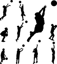 Basketball Player Silhouette V...