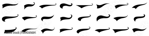 Photo Swoosh and swash tails collection. Vector illustration