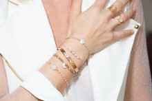 Woman Hand Closeup With Jewellery Rings And Bracelets Fashion Style