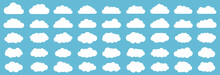 Set Of Clouds. Cloud Icon. Vec...