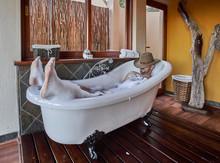 Man Having A Relaxing Bath In ...