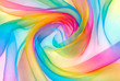 canvas print picture - organza fabric in rainbow color
