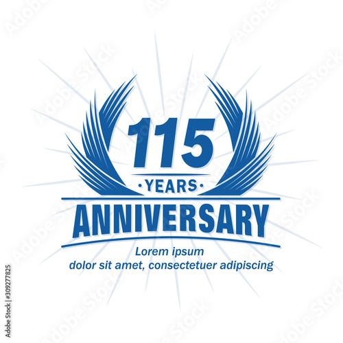 Tela  115 years logo design template