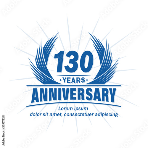 Papel de parede  130 years logo design template