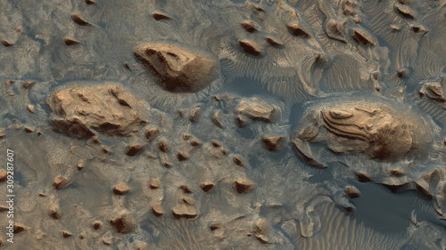 A rare picture from the top of Mars - images from another planet Canvas Print