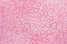 Abstract Hearts Pink Backgroun...