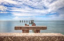 Old Abandoned Stone Fishing Pier Called Bocahenge