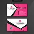 business card template with copy space for text