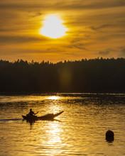 Silhouette Of Local Fishermen ...