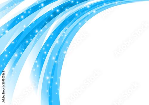 シャワー状に噴出する輝きの背景 Fototapet