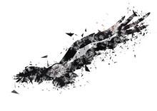 羽ばたく抽象的な鳥