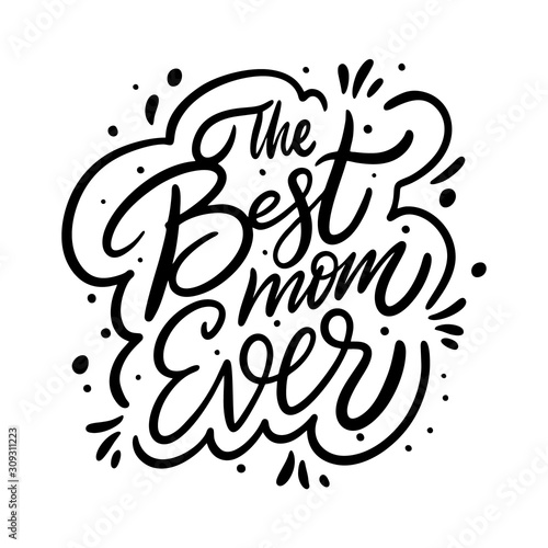 Canvas-taulu The Best Mom Ever phrase