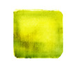 canvas print picture - Watercolor golden square on white as background