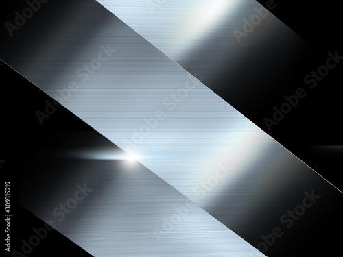 Fotografia, Obraz メタル メタリック 金属 鉱物 ヘアライン テクスチャー 光沢