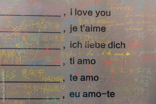 Photo I love you in many languages