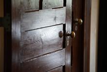 Old Wooden Door Of The Room
