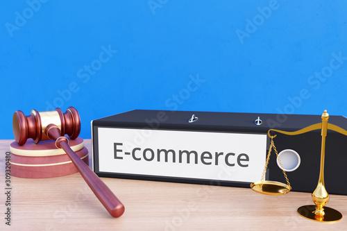 Fotografia E-commerce – Folder with labeling, gavel and libra – law, judgement, lawyer