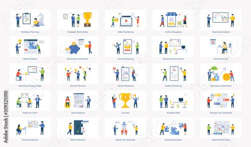 Business Success Illustration Vectors Canvas Print