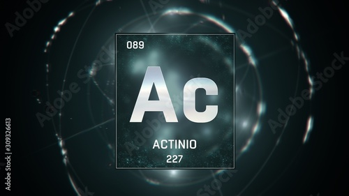 Photo 3D illustration of Actinium as Element 89 of the Periodic Table