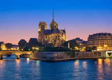 Notre Dame Cathedral And Seine...