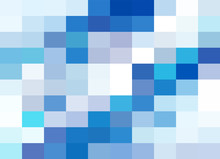 White Blue Grid Mosaic Backgro...