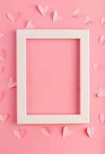 Pink Pastel Background With Wh...