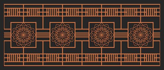 Laser cutting design for fencing, door, wall or window panel. Jigsaw die cut ...