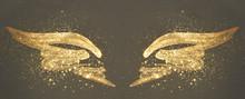 Golden Glitter On Abstract Gol...