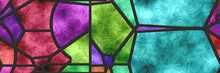 Stained Glass Wall. 3d Illustr...