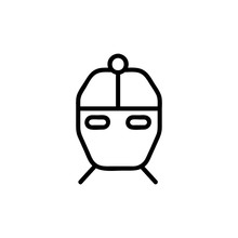 Icon Vector. A Thin Line Sign. Isolated Contour Symbol Illustration