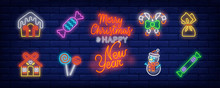 Christmas Sweets Neon Sign Set...