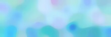 Blurred Horizontal Background With Light Blue, Baby Blue And Medium Turquoise Colors And Free Text Space