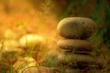 Pebbles In Misty Sunlight