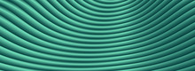 Turquoise Abstract Gradient Zig Zag Background With Lines. Fabric Waves Vortex Print.