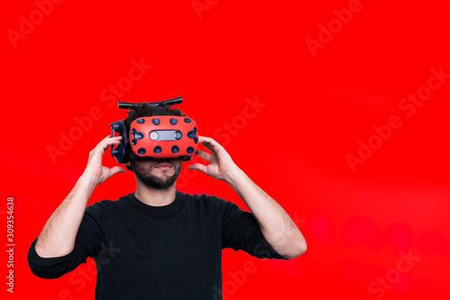 réalité virtuelle vr casque Canvas Print