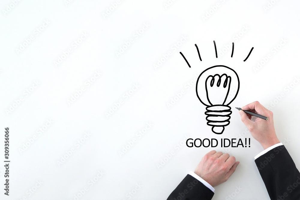 Fototapeta ビジネスイメージ―グッドアイデア