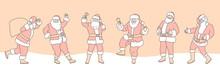 Set Of Cartoon Christmas Illus...