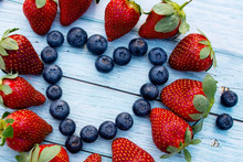Blueberry And Strawberry Heart...