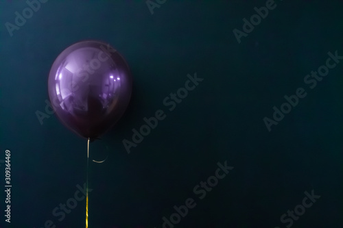Fototapeta purple air balloon on a dark background. Holiday Concept, Postcard obraz