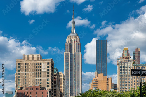 Photo  New York City skyline at sunny day