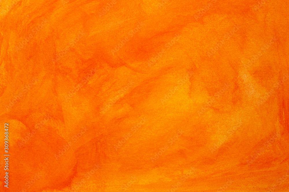 Fototapeta abstract orange watercolor background