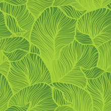Green Leaves Pattern. Seamless...