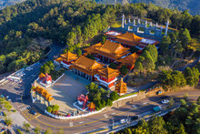 Aerial View Of Wenwu Temple At Sun Moon Lake, Taiwan.