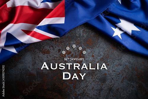 Australia day concept Canvas Print