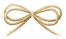 Linen Thread Bow Vector Illust...
