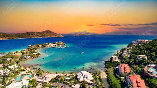 Fotomural St Thomas US Virgin Islands Drone Aerial