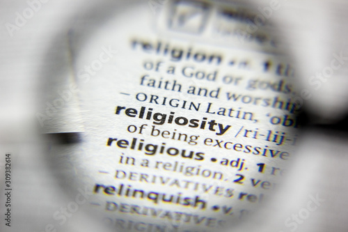 Valokuva The word or phrase Religiosity in a dictionary.